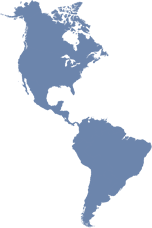 North, Central and South America